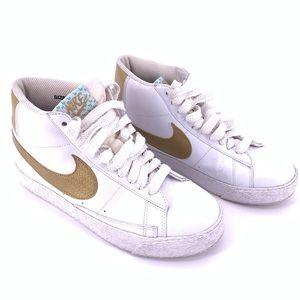 Nike Blazer High Top Sneakers Sz 7 White Gold 2006